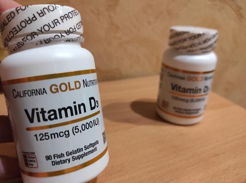 Витамин Д3 California Gold Nutrition 125 мкг (5000 МЕ), 90 шт.