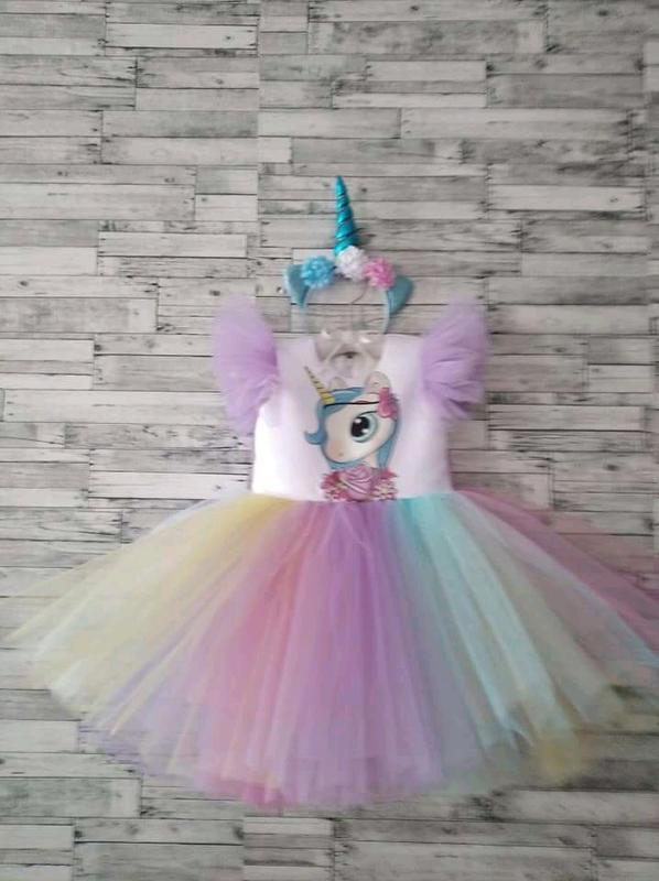 Платье пони,лошадка единорог для девочек,детское