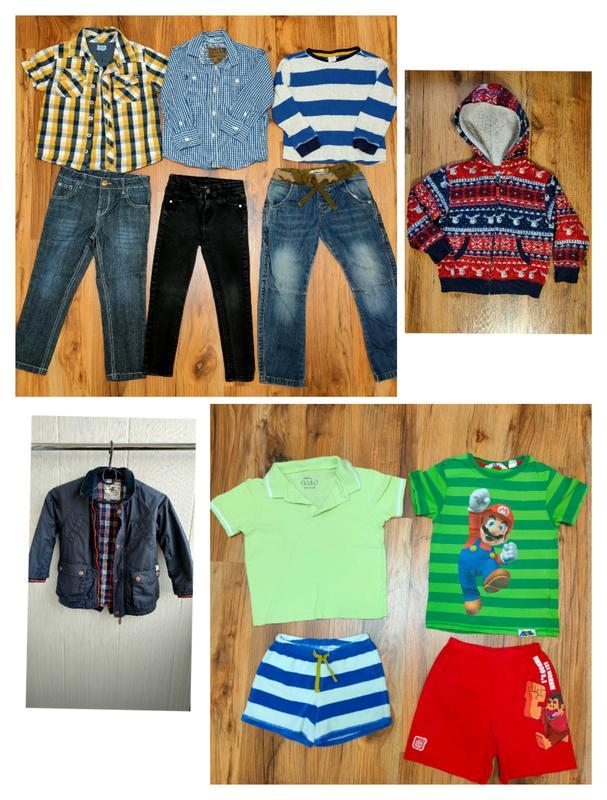 Пакет одежды на мальчика 4-5 лет одним лотом