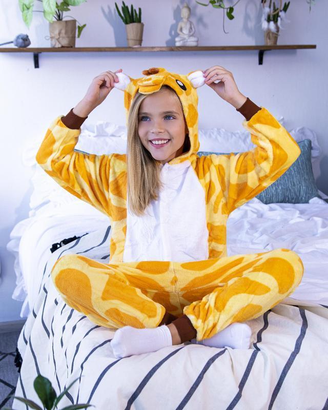Флисовый кигуруми жираф унисекс (для  детей и взрослых)