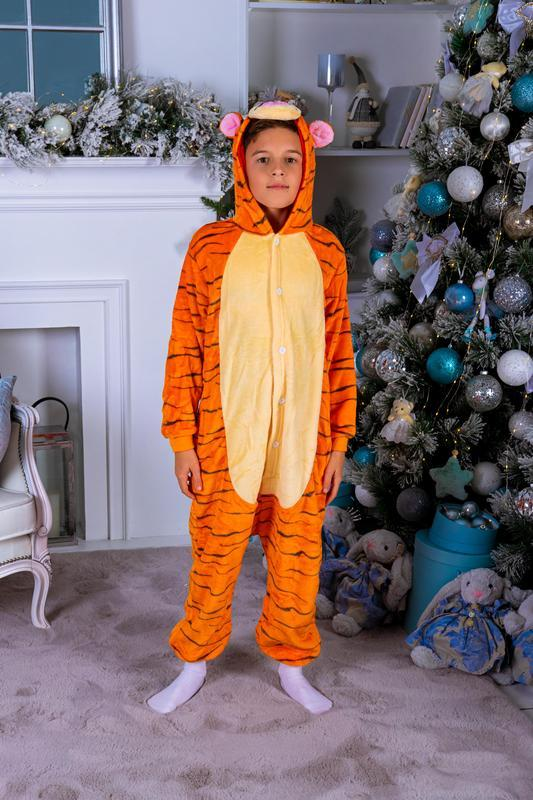 Флисовый кигуруми тигр унисекс (для  детей и взрослых)