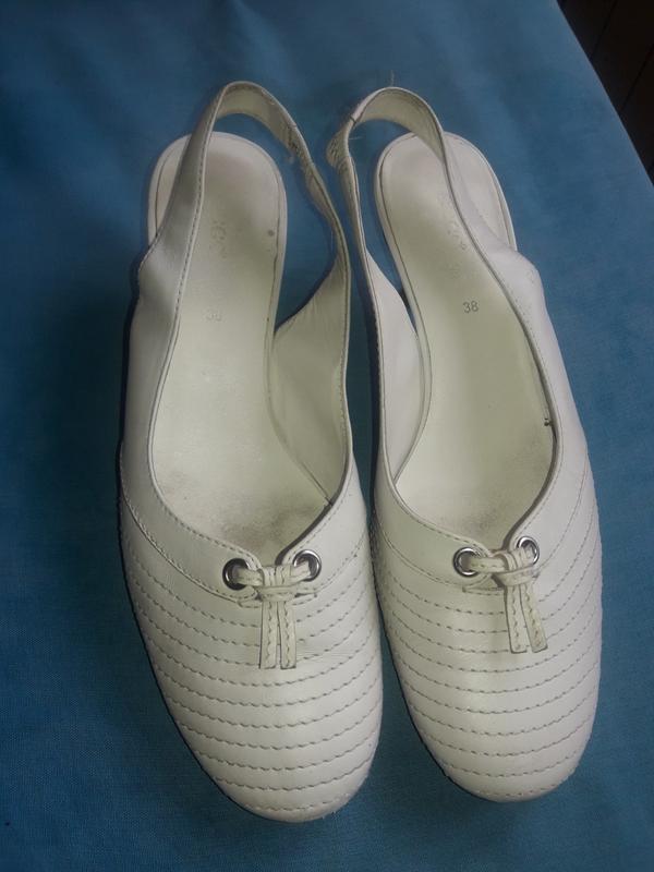 Туфли летние ecco кожаные, 38 размер - Фото 2
