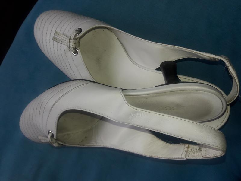 Туфли летние ecco кожаные, 38 размер - Фото 3