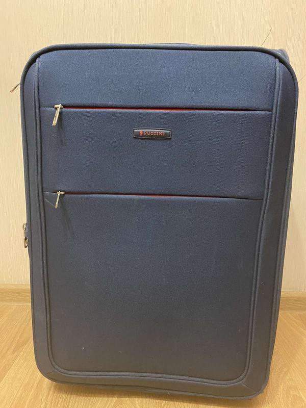 Средний мягкий чемодан на колёсах
