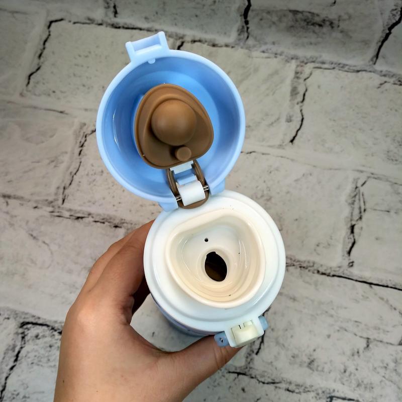 Термос термокружка smile термочашка, голубой, 500 мл - Фото 2