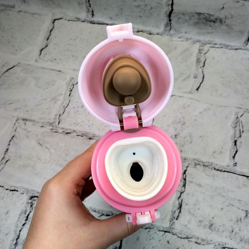 Термос термокружка lucky термочашка, розовый, 500 мл - Фото 2