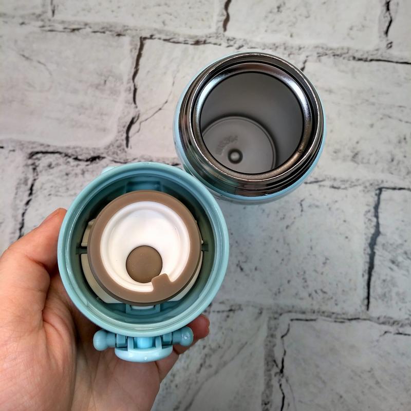 Термос термокружка енот термочашка, голубой, 500 мл - Фото 3