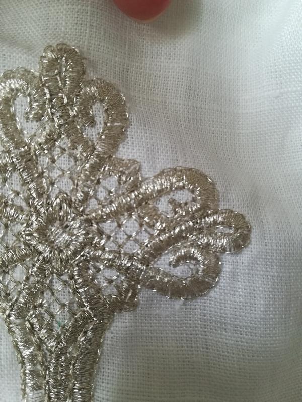 Льняная рубашка для крещения, одежда крестильная - Фото 2