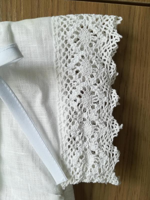 Льняная рубашка для крещения, одежда крестильная - Фото 3