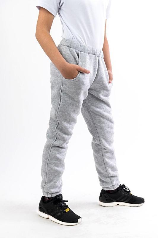 Тёплые зимние брюки джоггеры с карманами