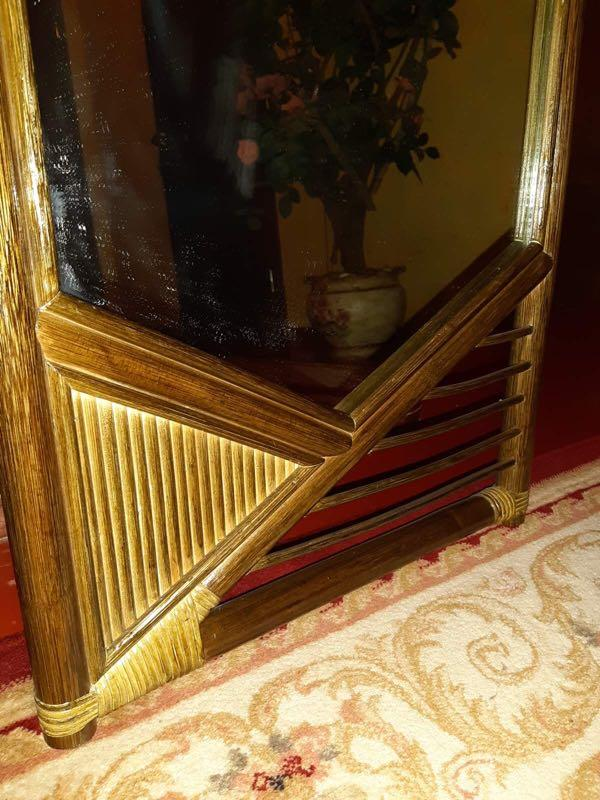Зеркало в раме из ротанга - Фото 2