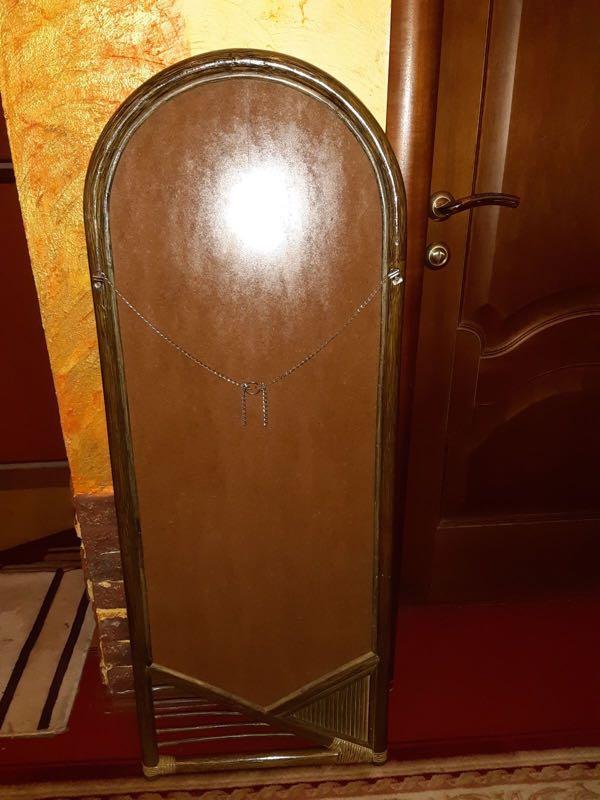 Зеркало в раме из ротанга - Фото 3