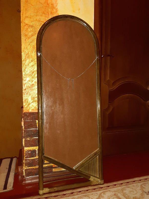 Зеркало в раме из ротанга - Фото 4