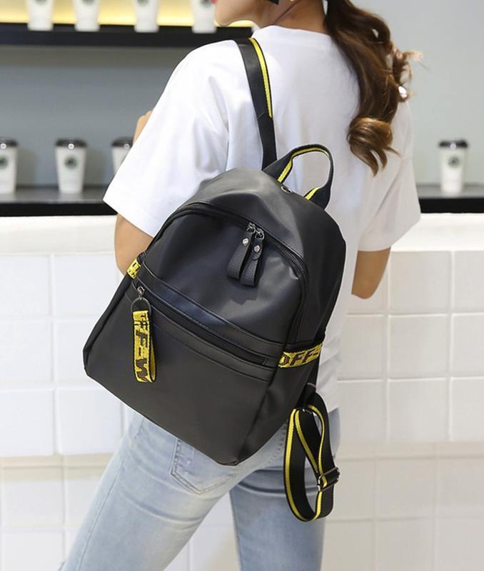 Городская стильная сумка. женский рюкзак черный. женский портфель