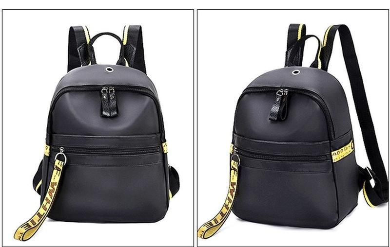 Городская стильная сумка. женский рюкзак черный. женский портфель - Фото 3