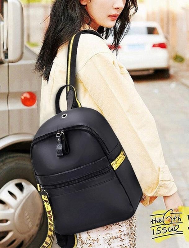 Городская стильная сумка. женский рюкзак черный. женский портфель - Фото 5