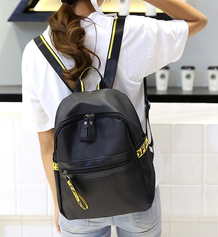 Городская стильная сумка. женский рюкзак черный. женский портфель - Фото 7