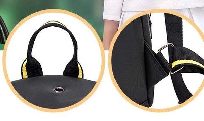 Городская стильная сумка. женский рюкзак черный. женский портфель - Фото 8