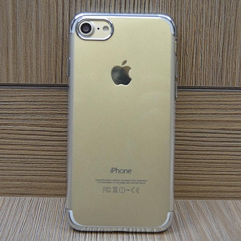 Силиконовый чехол Floveme Luxury Серебро для iPhone 8