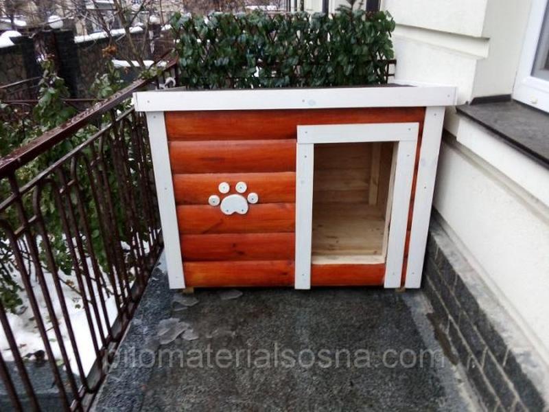 Красивая будка для овчарки   Большой собаки - Фото 2