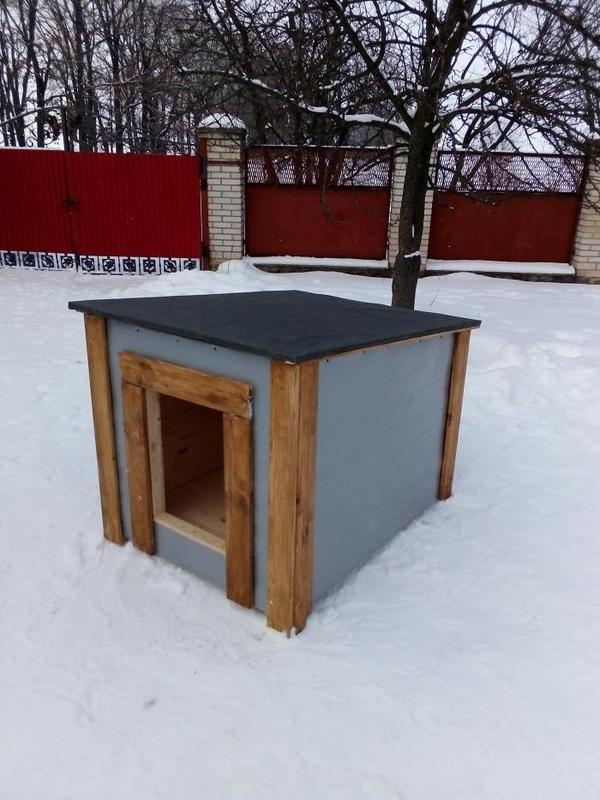 Красивая будка для овчарки   Большой собаки - Фото 4