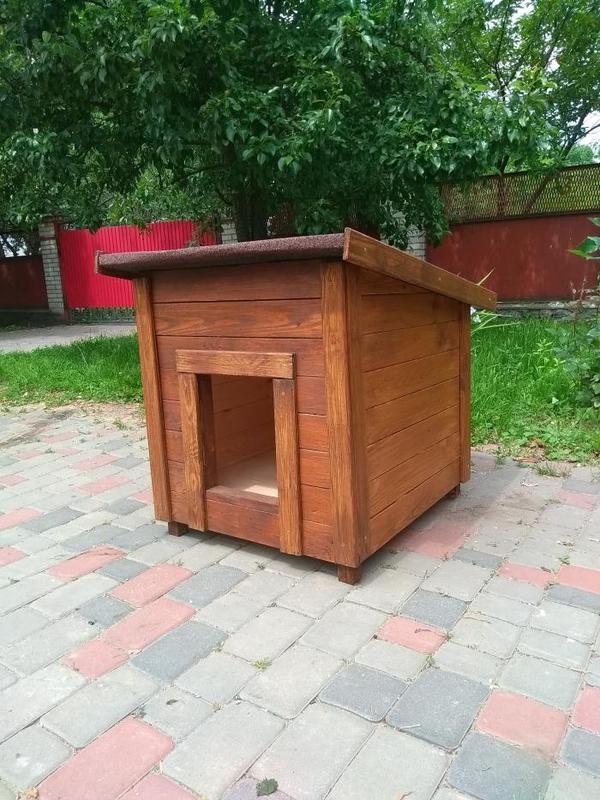 Красивая будка для овчарки   Большой собаки - Фото 5