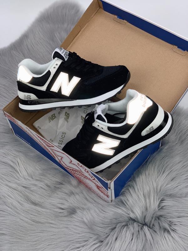 new balance 574 black reflective Promotions