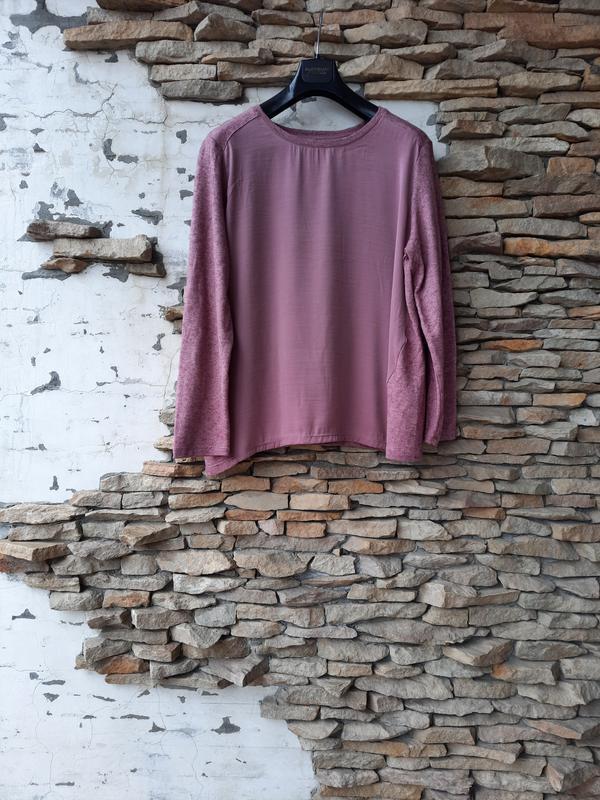 Комбинированный пуловер большого размера