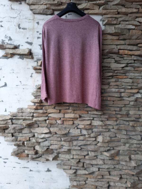 Комбинированный пуловер большого размера - Фото 3