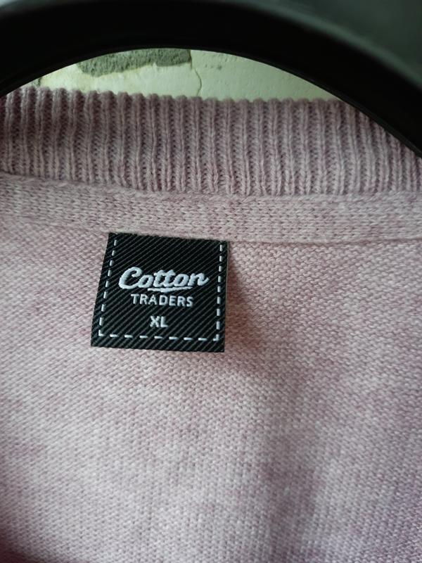 Теплый трикотажный пуловер большого размера - Фото 2