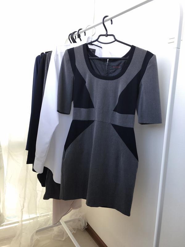 Распродажа!! классическое офисное короткое платье , с коротким...