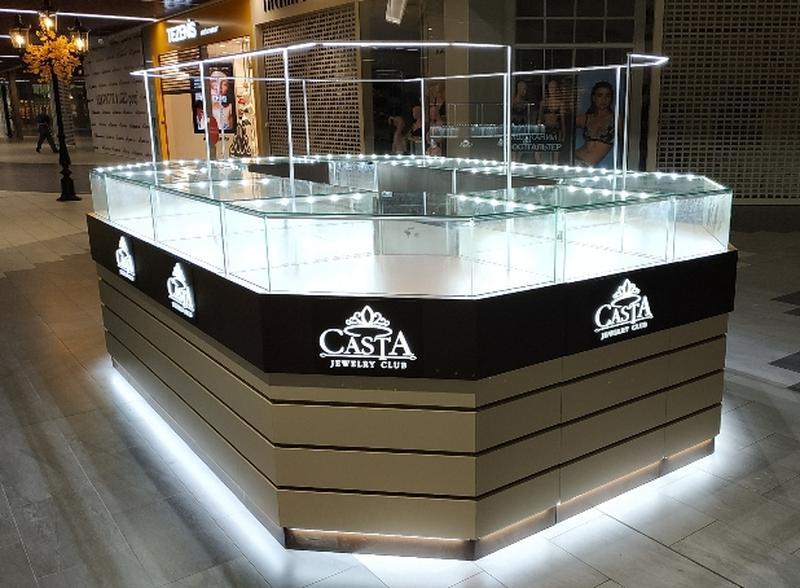 Подсветка торговых точек, витрины, LED освещение магазинов