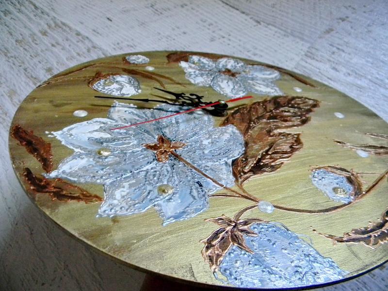 Настенные часы ручная роспись