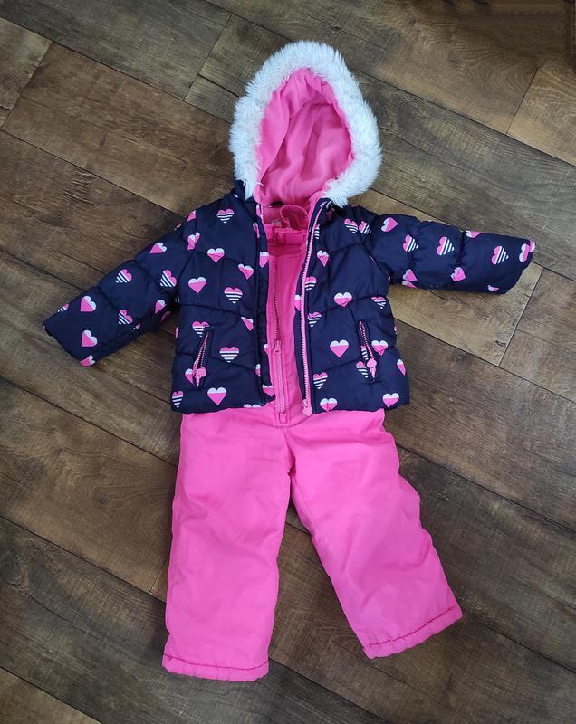 Костюм комбинезон зимний carter's 3т 92-98см куртка для девочки