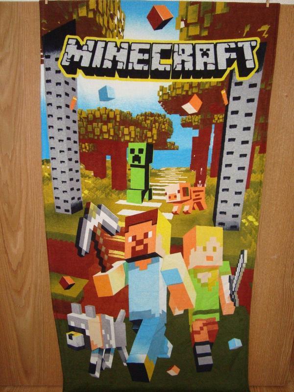 Пляжное полотенце майнкрафт minecraft