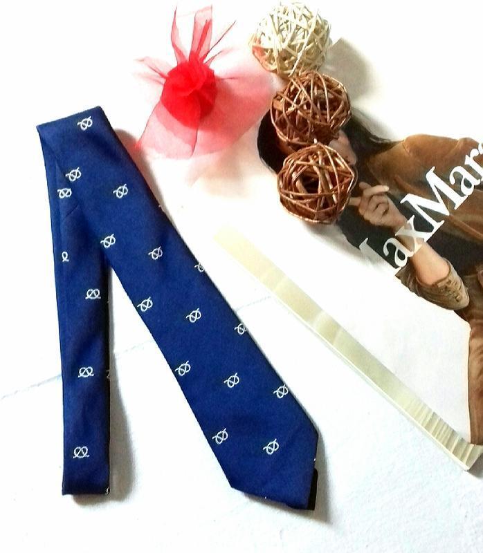 Синий галстук классический краватка