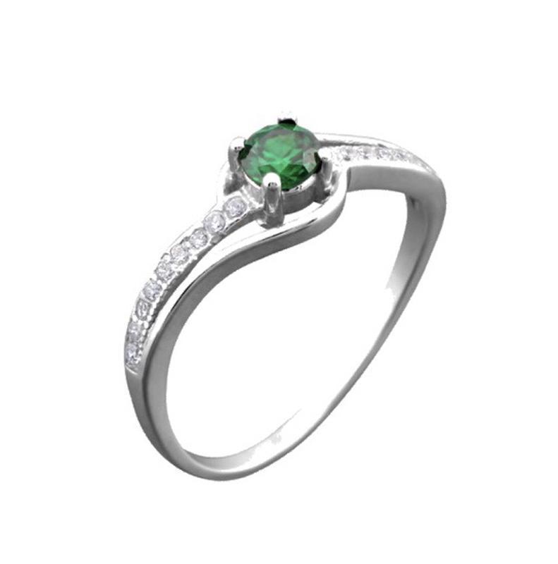 Кольцо серебро 925 с фианитами лк0066