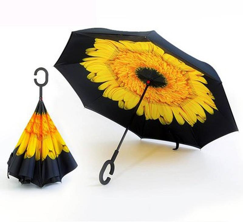 Ветрозащитные зонты UMBRELLA умный зонт НАОБОРОТ обратного Лучшая