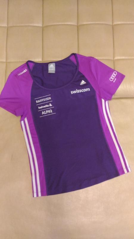 Спортивная футболка adidas, для фитнеса размер m /14