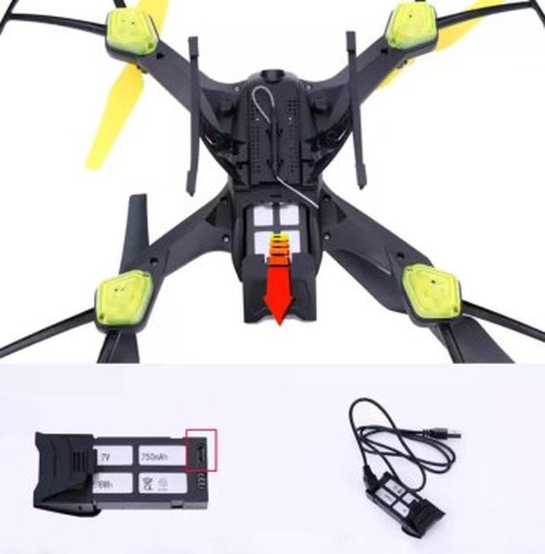 Квадрокоптер Drone S6 з Wi-Fi камерою 720 HD Black - Фото 3