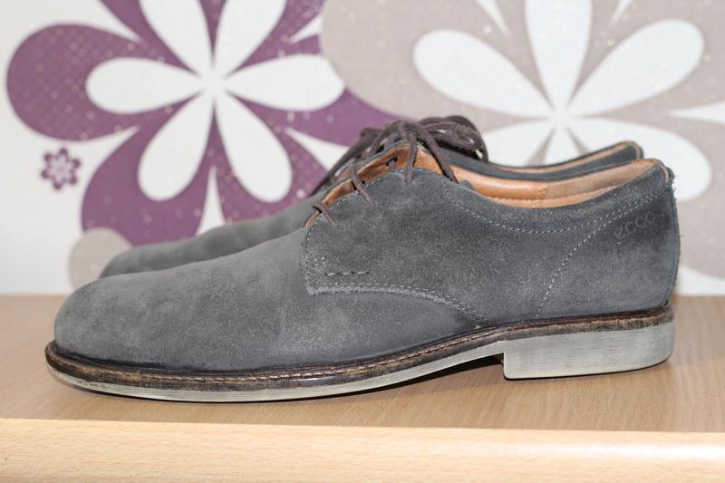 Ecco туфли из натуральной замши 43-44 размер
