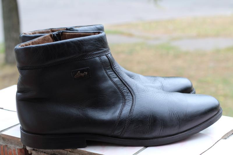 Кожаные ботинки, сапоги на цигейке 49-50. редкий размер!!! - Фото 2