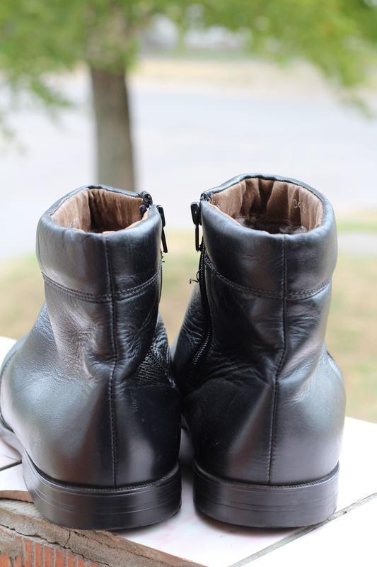 Кожаные ботинки, сапоги на цигейке 49-50. редкий размер!!! - Фото 4