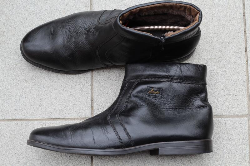 Кожаные ботинки, сапоги на цигейке 49-50. редкий размер!!! - Фото 6
