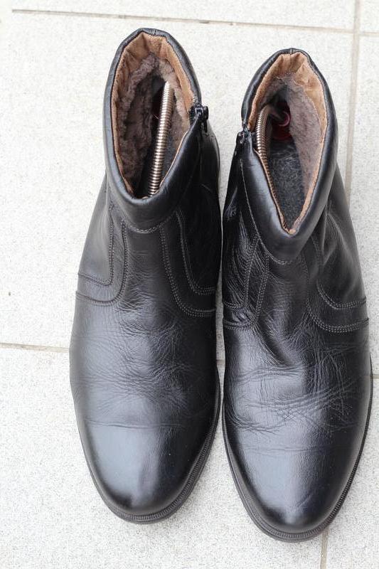 Кожаные ботинки, сапоги на цигейке 49-50. редкий размер!!! - Фото 7