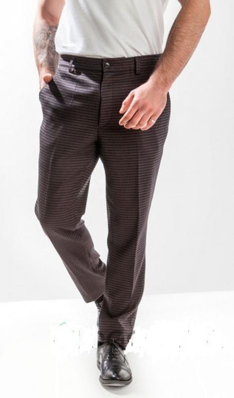 Классические брюки,штаны  в клетку,шерсть от c&a