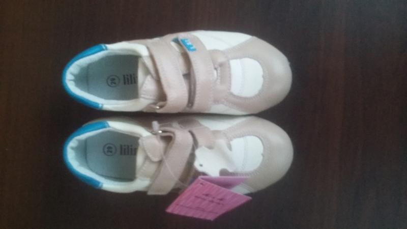 Кожаные кроссовки Lilin shoes р.25-30 - Фото 4