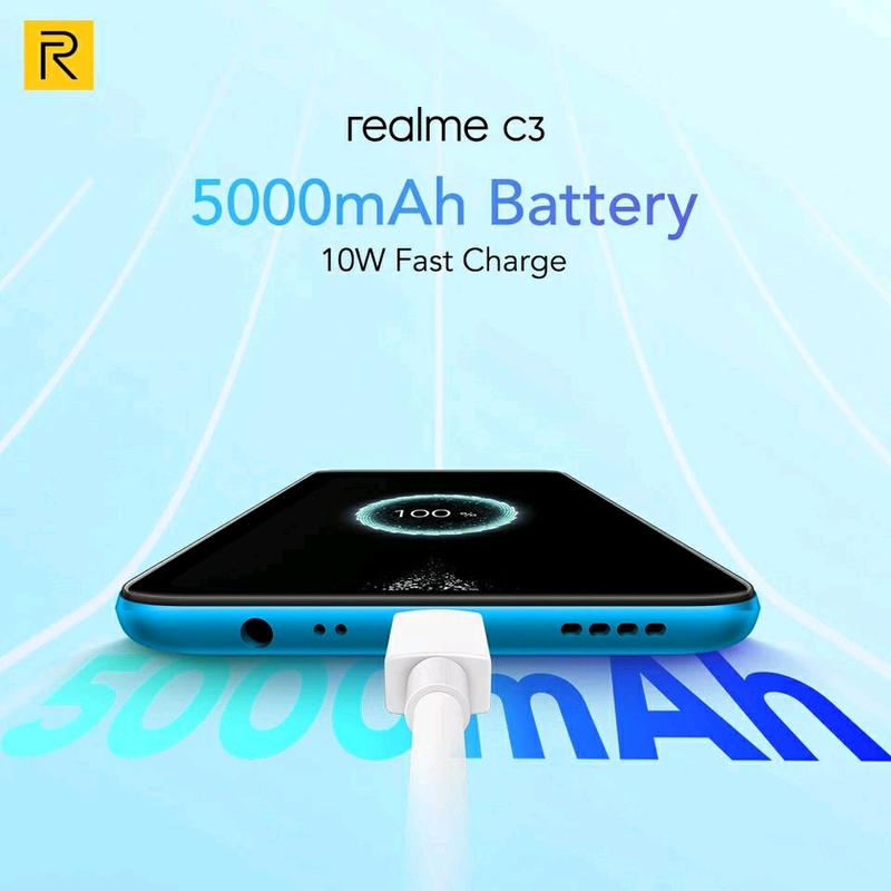 "Realme C3, экран 6.5"", NFC, 5000mAh, 3/64Gb, Android 10 - Фото 2"