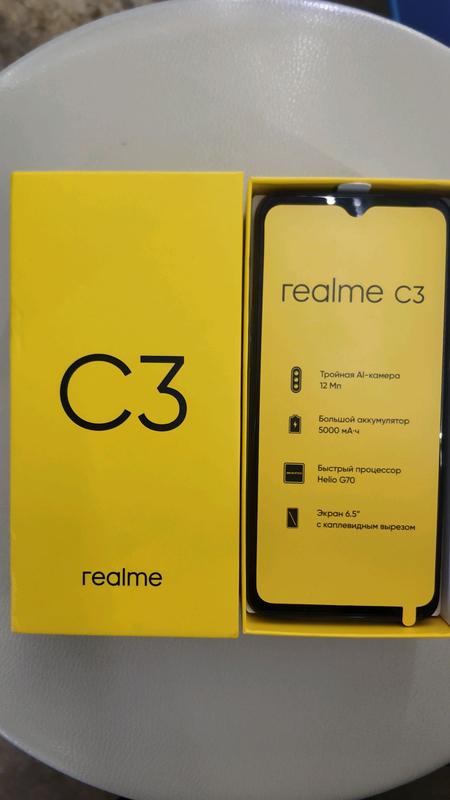 "Realme C3, экран 6.5"", NFC, 5000mAh, 3/64Gb, Android 10 - Фото 5"