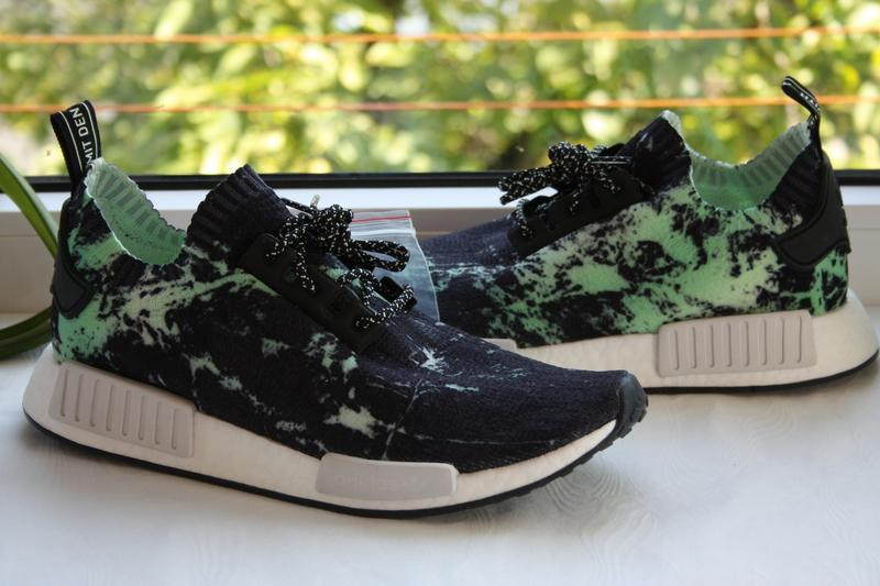 Кроссовки adidas nmd r1 marble aero green eqt support ultra bo...